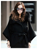Wholesale Koran Style fashion collars bind the new women s black cloth coat leisure coat