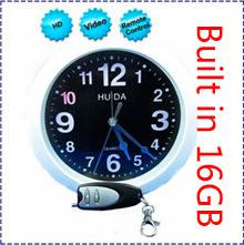 HK POST Free Shipping Built in 16GB Wall Clock spy Camera with Remote Control mini clock spy camcorder,mirror spy camera