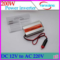 Wholesale DHL W Power Inverter Pure Sine Wave V DC to V AC New USB V output RW PC