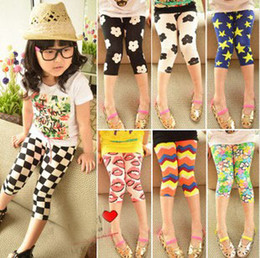 Wholesale New Arrival Kids Leggings New Style Printed Leggings Baby Girls Colorful Pattern Skinny Cropped Pants