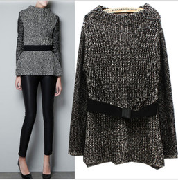 Wholesale Spring Autumn New Fashion Joker Women s Sweaters European and American style High collar Coarse knitting Loose Knitting Pullover Sweaters