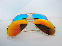Wholesale 1pair Men s Women s Designer Sunglasses Gold Frame Fire Iridium Lens mm Colors