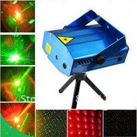 Wholesale 100 New Blue Mini RG Projector Holographic Laser Star Stage DJ Disco Party Lighting
