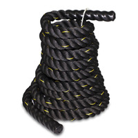 Wholesale High Quality Pro quot quot Poly Dacron ft Battle Rope Workout Training Undulation Black