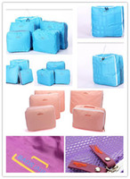 Wholesale FREE DHL NEW COLORS Nylon Storage Waterproof Mesh Travel Bags For Cosmetic Clothes Shoes Suit Pouch Case Tidy Organizers Luggage bags