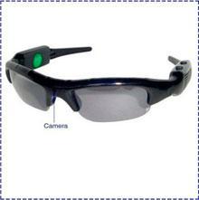 Descuento buena pesca Calidad 720p HD Negro Color Spy Sunglasses Gafas DVR cámara con lente cambiable, bueno para los deportes al aire libre como pesca, caza, etc.