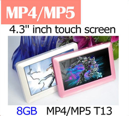 Wholesale T13 quot HD Touch Screen GB GB GB GB FM Radio Video TV Out E book Game MP4 MP5 Player