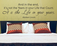 Graphic vinyl abraham lincoln life - 5pcs Wall Decal Quote Sticker Vinyl Lettering Live a Good Life Abraham Lincoln