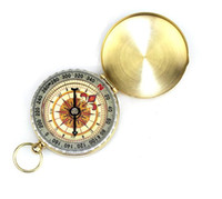 Wholesale Lensatic Compass Pocket Watch Style With Delicate Brass Outdoor Camping Survival Tool
