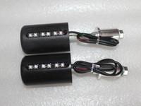 Motorcycle Frame Sliders motorcycle frame - Universal Motorcycle Frame Sliders Protector with LED Red Light