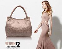 Wholesale 2013 New Tote Bag For Women PU Pink Silver Color Air Bubble New Arrival pc B14