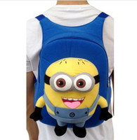 Big Kids big blue pill - New Despicable me jorge pill bags Backpack school minions plush toy doll bag mean steal my god father