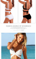 bech wear - swimsuit padded Tankini Hot summer ladies sex swimwear Women Bikini Color White and Black Swim Bech Wear M L XL