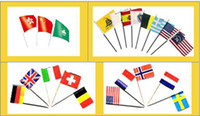 Wholesale 2014 World Cup Brazil Mini Dynamo banner Hand waving flags Competition cheer flag cm