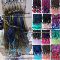 Wholesale Hair Product Women s Colorful Hair Wavy Ombre Hair Extension Highlight Hair Clip in Hair Extensions Colors Optional