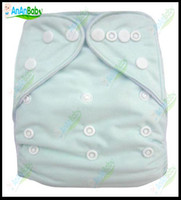 Wholesale 30pcs One Size Cloth Diaper Without Insert Reusable Nappies Solid Color Baby Cloth Diaper