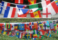Wholesale 2014 World Cup national activities decoration string flag in different countries on international banner flag