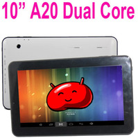 Wholesale 10 Inch A20 Dual Core Tablet PC Android GB RAM GB Capacitive Screen Multi Touch HDMI P Dual Camera Flytouch Inch D Games