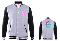 Wholesale pink dolphin Baseball uniform jacket skateboard hip hop rap hip hop wave of men