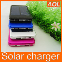Wholesale 5000mAh Portable Solar Battery Charger Power Bank USB battery charger For ipad iphone Smart Phone PDA Samsung Galaxy S3 i9300 S4 MP3 MP4