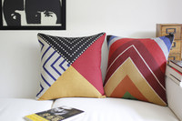 Wholesale 2PCS Retro colorful abstract graphic cotton sofa cushion cushion cover pillows decorate for a sofa