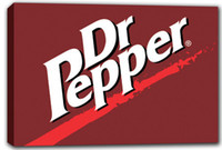 Wholesale scrb323 Dr Pepper Stretched Canvas Print Decor Sign