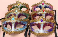 Wholesale Colour Decoration Gem Venice Mask Halloween Masquerade Masks Festive amp Party Supplies Party Masks MK023