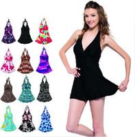 Wholesale XXL XXXXXL print bikini floral swimming dress plus size extra large swimsuit female tripe cover swimwear push up one piece