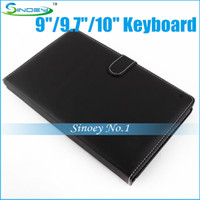 Wholesale High quality Tablet Keyboard leather case for quot quot quot OEM Tablet PC A20 Dual core RK3188 Quad Core Ainol Pipo Laptop
