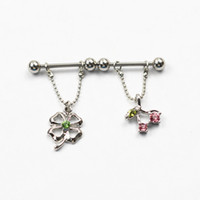 Wholesale mixed styles Dangle nipple rings nipple piercing jewelry with charm rhinestone