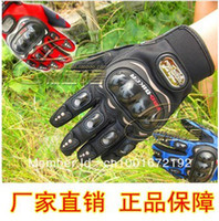 Wholesale RED BLUE BLACK Pro biker knight racing gloves Electric bicycle motorcycle gloves cross country