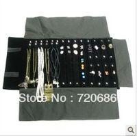 Wholesale Portable travel jewelry organizer display cases organizer display travel roll of multi item jewelry pouches accessories storage