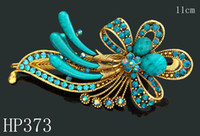 butterfly hair clip - Hot Sale women vintage hair jewelry Zinc alloy rhinestone Butterfly hair clips hair accessories Mixed colors HP373