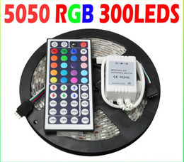 5M Roll IP65 Waterproof 300 LED Strip SMD5050 Christmas Decoration RGB LED Strip+44 Key IR Controller control