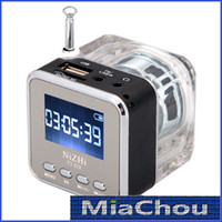 Wholesale 6 Colors Digital Portable Mini Speaker Music MP3 MP4 Player TF Card USB Disk Speaker FM Radio LCD Display