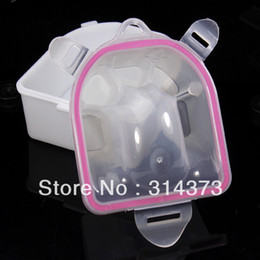 Wholesale 5pcs Plastic Double Deck Soaker Bowl For Acrylic UV Gel Polish Remover Nail Art Hand Wash Manicure Treatment Tool Supplies