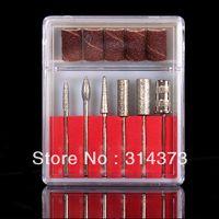 Nail Art Stamping Machine Nail Art Equipment  Pro Nail Art File Sanding Bands Drill Bits Manicure Pedicure Tool Set Kit New