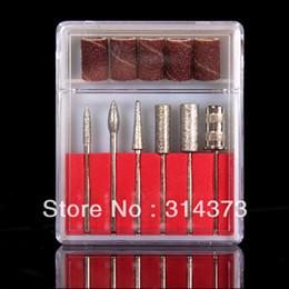 Wholesale Pro Nail Art File Sanding Bands Drill Bits Manicure Pedicure Tool Set Kit New
