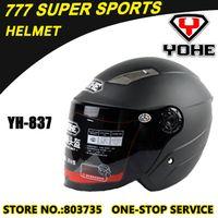 Wholesale Classic Jet Helmets Motorcycle Helmet Open Face Dirt Bike Capacete Winter Helmets Sports Racing Casco Yohe YH837
