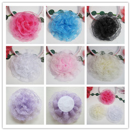 Lace Frilly Flower For Baby Headbands Girls Corsage Flower Hair Accessories Dress Flowers DIY Photography props wholesale for Christmas Gift