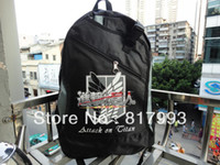 Wholesale New Design Attack on Titan Bag Shingeki no Kyojin Scouting Legion symbol mens children s Backpack school sport travel Knapsack