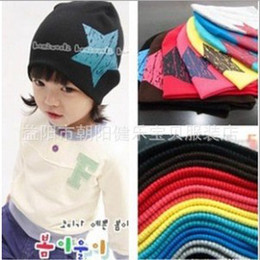 Wholesale Children s autumn boys and girls lovely five pointed star pattern bonnet dandys