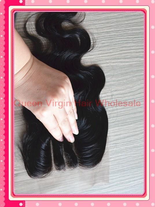 6A Virgin Brazilian Body Wave Lace Closure Human Hair Free Middle 3 Part Top Lace Closure Bleached Knot Lace Front Closure Piece