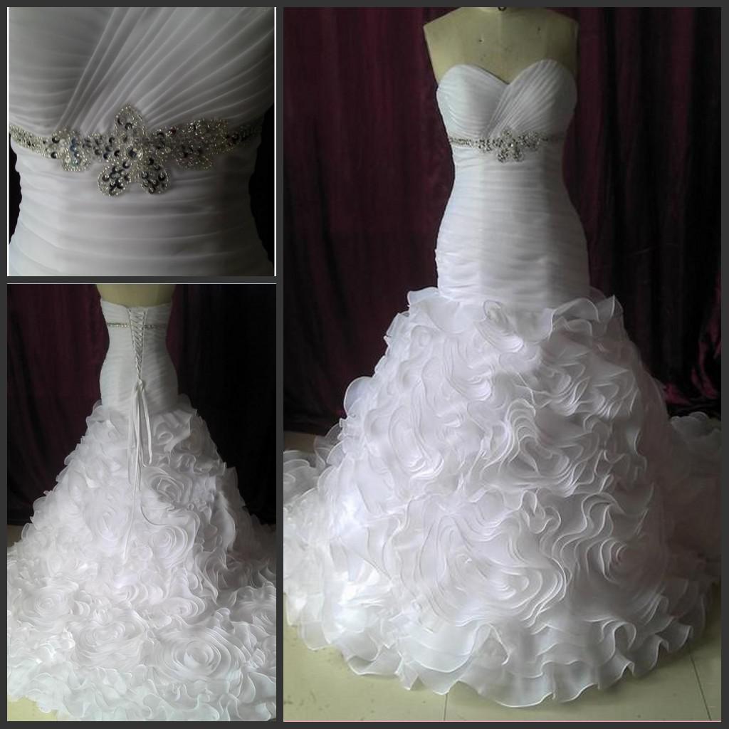 Sweetheart Mermaid Wedding Dresses 2013 Lace Up Bridal
