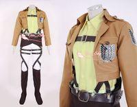 Wholesale Attack on Titan AOT Shingeki no Kyojin Hanji Zoe Recon Corps Costume cosplay anime full set leather