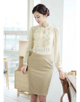 Wholesale career dresses New Women Skirt Suit amp Skirt for Office Ladies Formal OL Business Work Wear Career Sets Long Sleeve