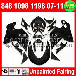 7gifts Unpainted Full Fairing Kit For DUCATI 848 1098 1198 07-11 1098S 1198S 07 08 09 10 11 2007 2008 2009 2010 2011 Fairings Bodywork Body