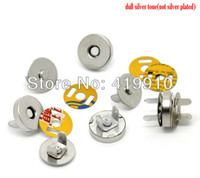Wholesale Sets Silver Tone Buttons Magnetic Purse Snap Clasps Closure for Purse Handbag mm M00024x5