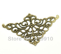 Wholesale Antique Bronze Filigree Triangle Wraps Connectors Jewelry Findings cm x cm quot x1 quot M01060