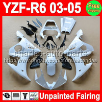 7gifts Unpainted Full Fairing Kit For YAMAHA YZF- R6 03- 05 YZ...